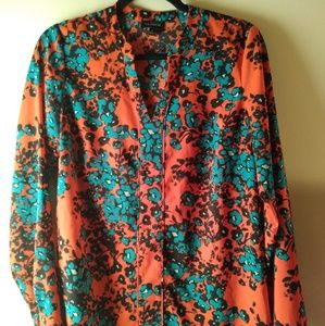 The Limited Long Sleeve Blouse Size M